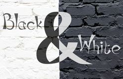 Parete in bianco e nero due Immagini Stock Libere da Diritti