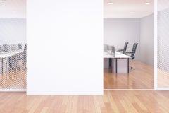 Parete in bianco in ufficio illustrazione di stock