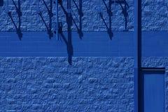 Parete blu Fotografie Stock