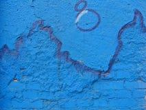 Parete blu Fotografia Stock Libera da Diritti