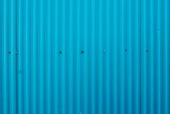 Parete blu-chiaro dello zinco Fotografia Stock Libera da Diritti