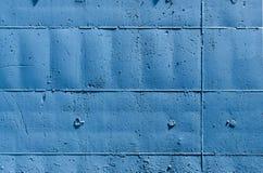 Parete blu con i rettangoli Fotografie Stock Libere da Diritti