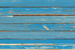 Parete blu d'annata di legno del fondo Immagini Stock Libere da Diritti