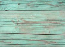 Parete blu dei bordi La struttura del recinto di legno fotografia stock