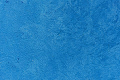 Parete blu del marciapiede del cemento fotografia stock libera da diritti