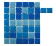 Parete blu delle mattonelle Immagine Stock