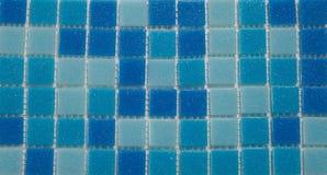 Parete blu delle mattonelle Fotografia Stock Libera da Diritti