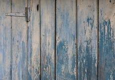 Parete blu naturale di legno del granaio Fotografie Stock
