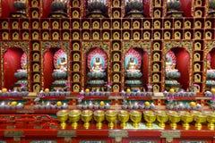 Parete buddista del santuario Fotografia Stock Libera da Diritti