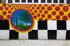 Parete Checkered & Windows orizzontali Immagini Stock Libere da Diritti