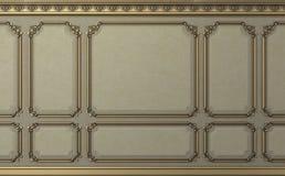 Parete classica dei pannelli di legno del biege Progettazione e tecnologia fotografie stock libere da diritti