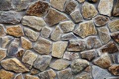 Parete con i blocchi di pietra strutturati Immagine Stock