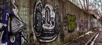 Parete con i graffiti Fotografia Stock Libera da Diritti