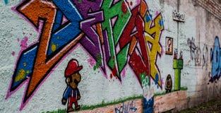 Parete con i graffiti Immagini Stock