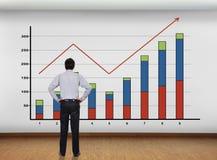 Parete con il grafico Immagini Stock