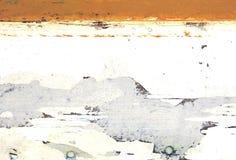 Parete con il retro modello bianco ed arancio stagionato Fotografia Stock Libera da Diritti