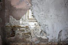 Parete con l'ornamento, intonacato con calcestruzzo Fotografia Stock