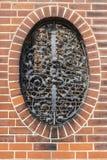 Parete con la finestra del ferro battuto a Berlino, Germania Immagine Stock Libera da Diritti