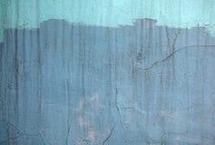Parete con la pittura blu del modello della pittura Fotografia Stock