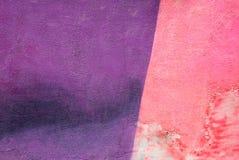 Parete con la pittura porpora rosa variopinta del modello della pittura Fotografia Stock Libera da Diritti