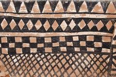 Parete con la pittura tribale africana Fotografia Stock Libera da Diritti