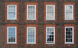 Parete con le finestre Fotografie Stock