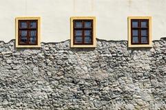 Parete con le finestre Fotografia Stock