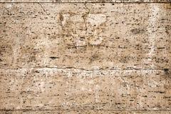 Parete con rivestimento decorativo beige marrone - travertino 1 Fotografia Stock Libera da Diritti
