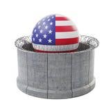 Parete concreta del confine intorno ad U.S.A. illustrazione di stock