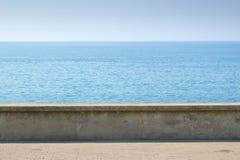 Parete concreta della costa Fotografia Stock Libera da Diritti