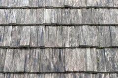 Parete coperta dalle mattonelle di legno, struttura fotografia stock