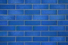 Parete coperta di tegoli blu Fotografie Stock Libere da Diritti