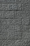 Parete costruita dei blocchi grigi Fotografia Stock