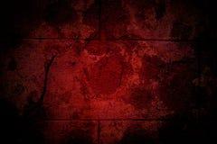 Parete craked vecchio rosso Fotografie Stock Libere da Diritti