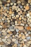 Parete da legna da ardere asciutta Immagini Stock