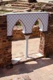 Parete decorativa al castello di Silves Immagine Stock