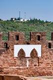 Parete decorativa al castello di Silves Fotografia Stock