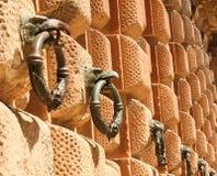 Parete decorativa nel palazzo di Alhambra, Spagna Immagine Stock Libera da Diritti