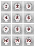 Parete degli orologi Fotografia Stock Libera da Diritti