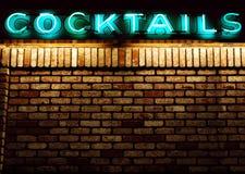 Parete dei cocktail Immagine Stock