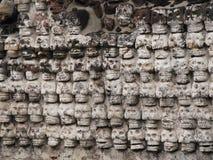Parete dei crani di pietra Fotografie Stock Libere da Diritti