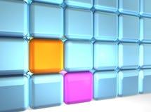 Parete dei cubi Fotografia Stock