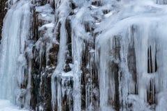 Parete dei ghiaccioli immagini stock libere da diritti