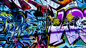 Parete dei graffiti fotografia stock