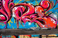 Parete dei graffiti immagine stock