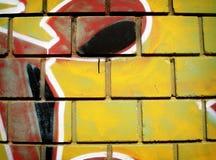Parete dei graffiti Immagini Stock Libere da Diritti
