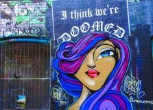 Parete 4 dei graffiti Fotografie Stock