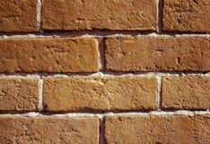 Parete dei mattoni arancio Fotografia Stock Libera da Diritti