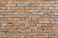 Parete dei mattoni arancio Fondo con struttura della muratura fotografia stock libera da diritti