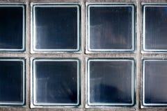 Parete del blocco di vetro fotografia stock libera da diritti